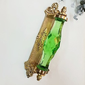 Crystal gold plate handle-Green
