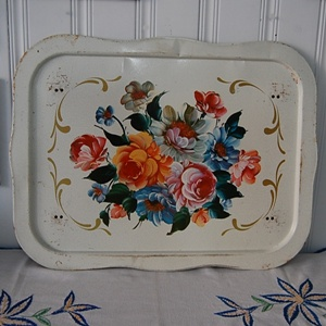 vintage  bed tin tray 50'